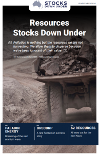 Resources Stocks Down Under: Paladin Energy, Orecorp, S2 Resources