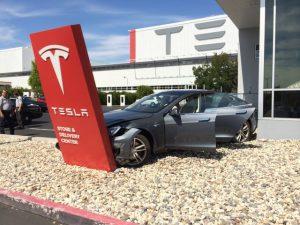 Crashed Tesla