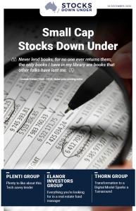 Small Cap Stocks Down Under: Plenti Group, Elanor Investors Group, Thorn Group