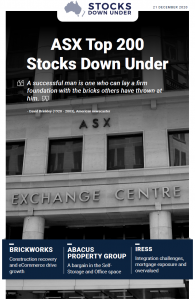 ASX Top 200 Stocks Down Under: Brickworks, Abacus Property Group, Iress