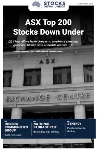 ASX Top 200 Stocks Down Under: Ingenia Communities Group, National Storage REIT, Z Energy