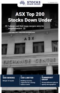 ASX Top 200 Stocks Down Under: SSR Mining, CSR Limited, Summerset Group