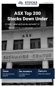 ASX Top 200 Stocks Down Under: Codan, EML Payments, Zimplats