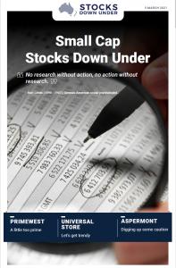 Small Cap Stocks Down Under: Primewest, Universal Store, Aspermont