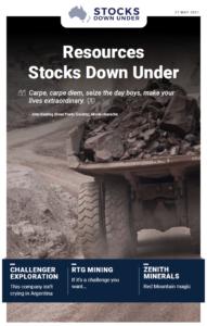 Resources Stocks Down Under: Challenger Exploration, RTG Mining, Zenith Minerals