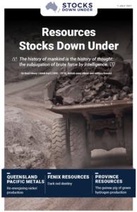 Resources Stocks Down Under: Queensland Pacific Metals, Fenix Resources, Province Resources
