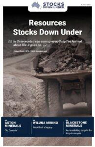 Resources Stocks Down Under: Aston Minerals, Wiluna Mining, Blackstone Minerals