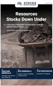 Resources Stocks Down Under: Venture Minerals, Rex Minerals, CZR Resources