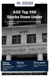 ASX Top 200 Stocks Down Under: Domain Holdings, Nufam, Costa Group
