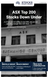 ASX Top 200 Stocks Down Under: Breville Group, Beach Energy, New Hope Corporation